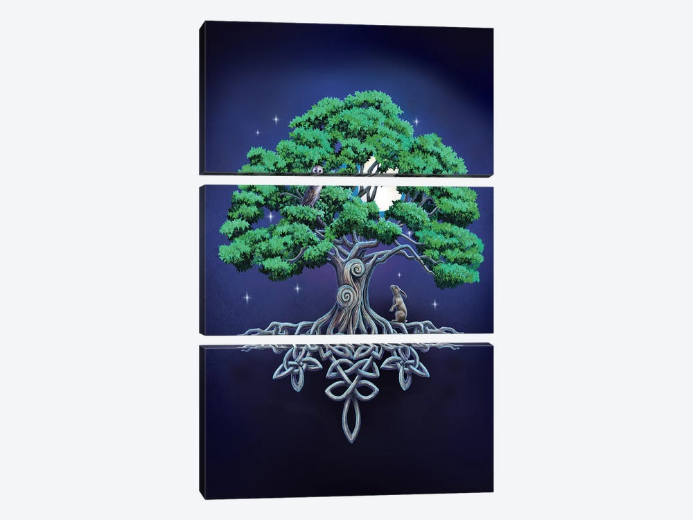 Large Tree Of Life by Lisa Parker 3-piece Canvas Art