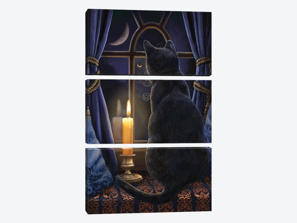 Midnight Vigil by Lisa Parker 3-piece Canvas Wall Art