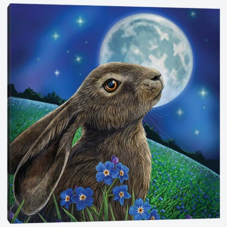 Moon Gazer Canvas Print #LPA13} by Lisa Parker Art Print