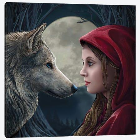 Moon Struck, Square Canvas Print #LPA15} by Lisa Parker Canvas Artwork