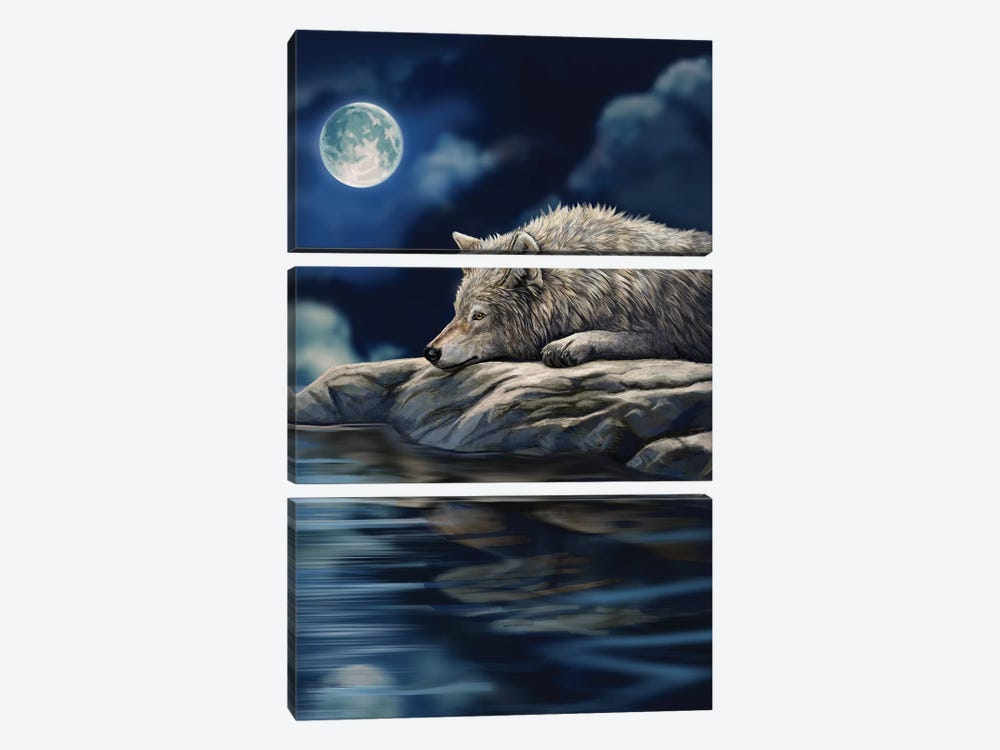 Quiet Reflection by Lisa Parker 3-piece Canvas Art Print