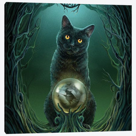 Rise Of The Witches, Square Canvas Print #LPA21} by Lisa Parker Canvas Artwork