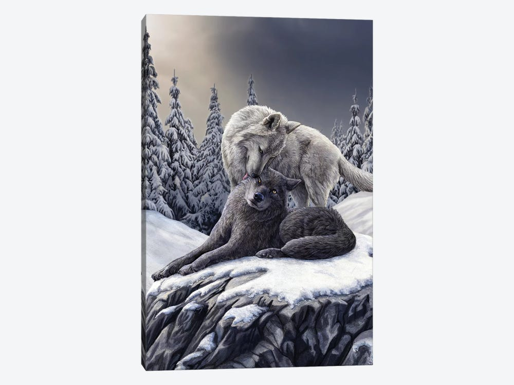 Snow Kisses by Lisa Parker 1-piece Canvas Art