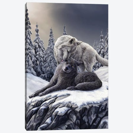 Snow Kisses Canvas Print #LPA25} by Lisa Parker Canvas Art Print