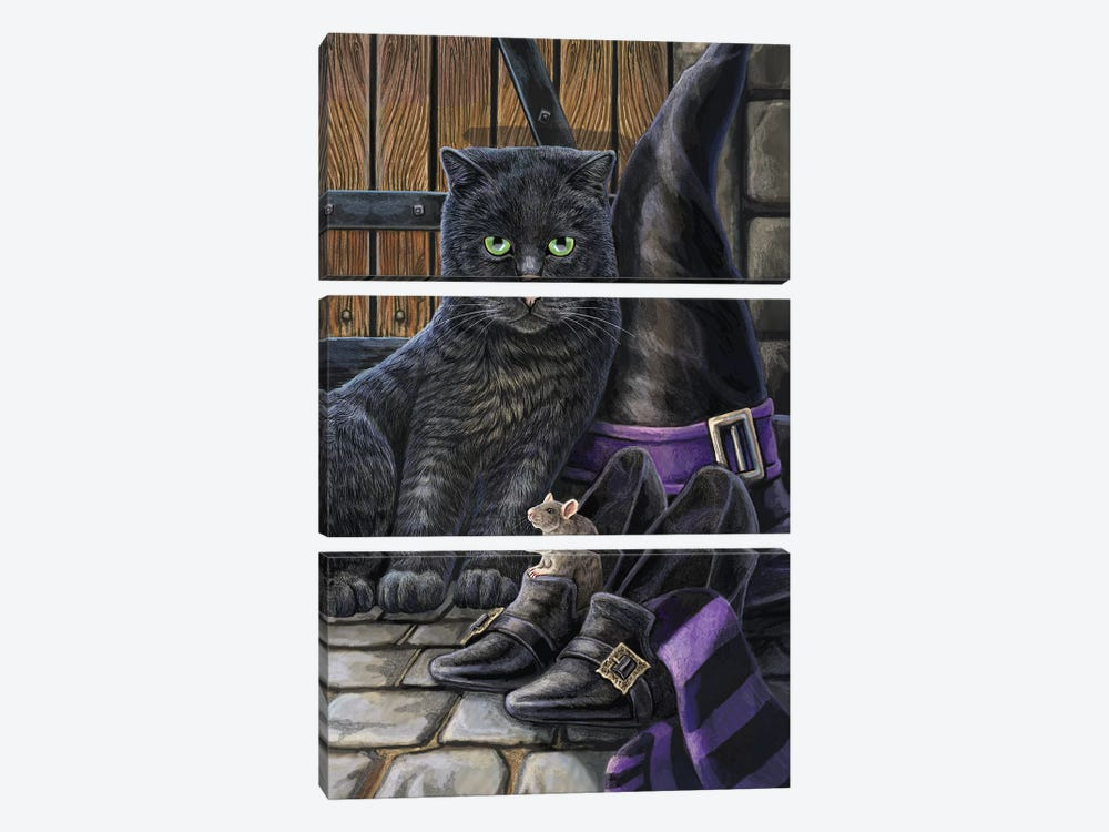 Trouble And Squeak by Lisa Parker 3-piece Canvas Print