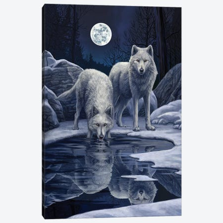 Warriors Of Winter Canvas Print #LPA40} by Lisa Parker Canvas Art