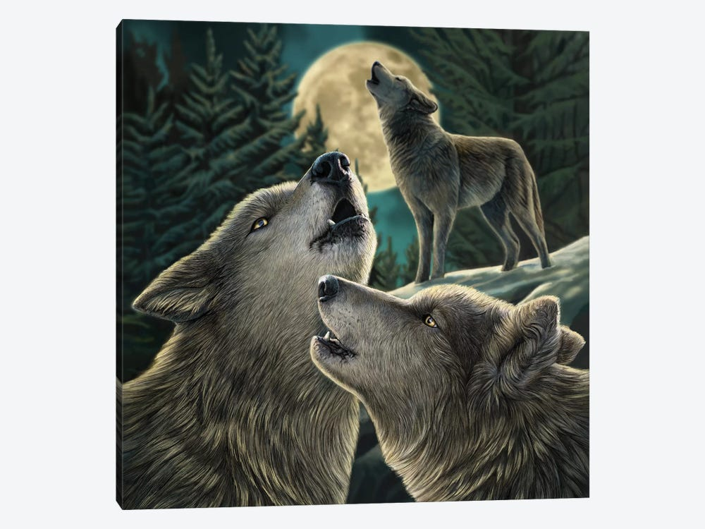 Wolf Song by Lisa Parker 1-piece Canvas Art Print