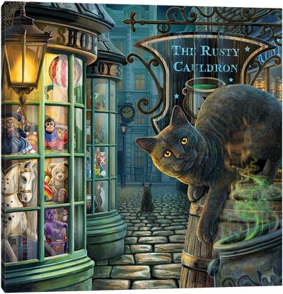 The Rusty Cauldron Canvas Art Print