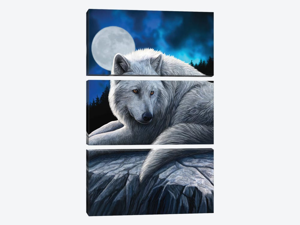Guardian Of The North by Lisa Parker 3-piece Canvas Print