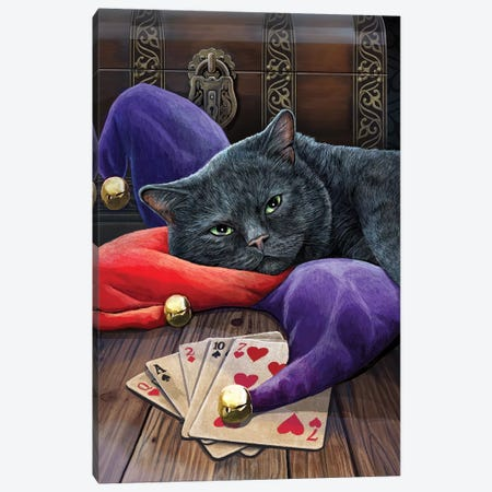 Jester Canvas Print #LPA9} by Lisa Parker Canvas Artwork