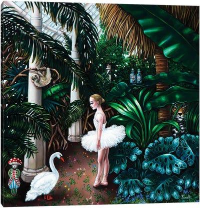The White Swan Canvas Art Print