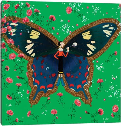 Butterfly With Olive Oyl Canvas Art Print