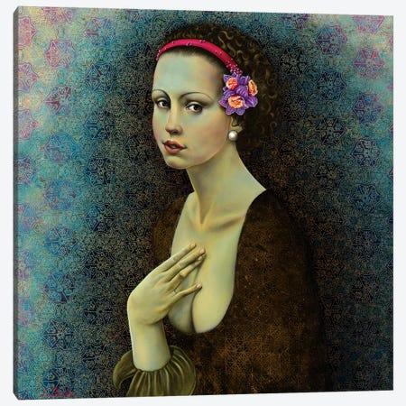Dafodil Girl Canvas Print #LPF22} by Liva Pakalne Fanelli Canvas Art Print