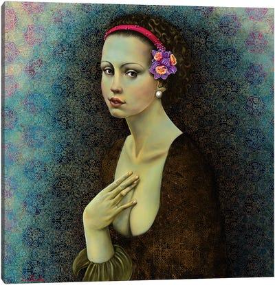 Dafodil Girl Canvas Art Print