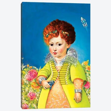 Eleonora Gonzaga With Tin Robot Canvas Print #LPF23} by Liva Pakalne Fanelli Art Print