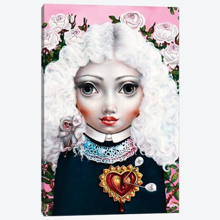 Girl With Big Heart Canvas Print #LPF26} by Liva Pakalne Fanelli Canvas Artwork