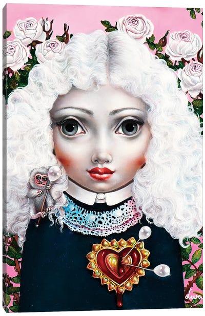 Girl With Big Heart Canvas Art Print