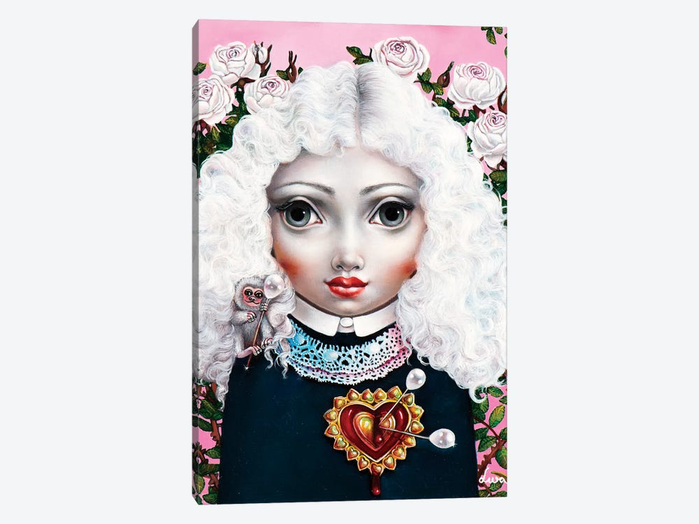 Girl With Big Heart by Liva Pakalne Fanelli 1-piece Canvas Art