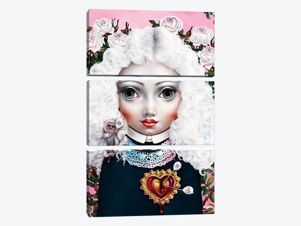 Girl With Big Heart by Liva Pakalne Fanelli 3-piece Canvas Art