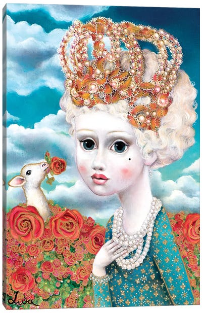 Girl With Crown Canvas Art Print
