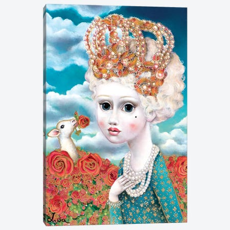 Girl With Crown Canvas Print #LPF27} by Liva Pakalne Fanelli Canvas Artwork
