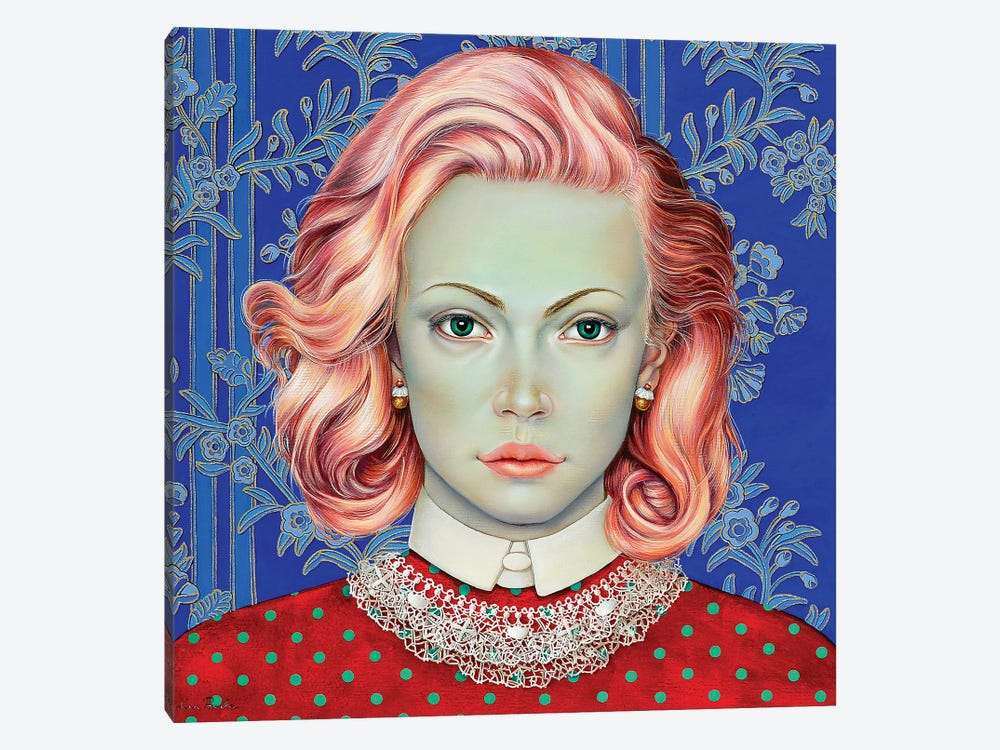 Girl With Pink Hair by Liva Pakalne Fanelli 1-piece Canvas Artwork