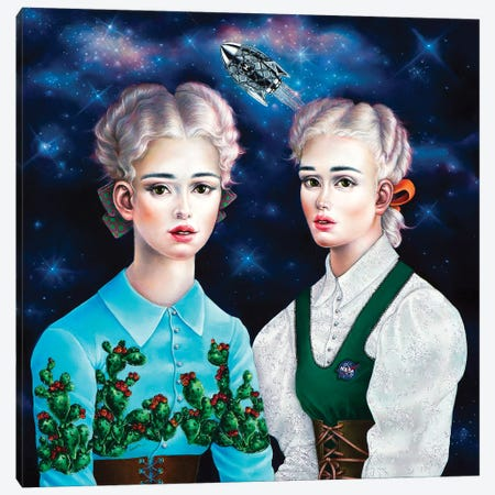 Astronaut's Wives Canvas Print #LPF3} by Liva Pakalne Fanelli Canvas Print
