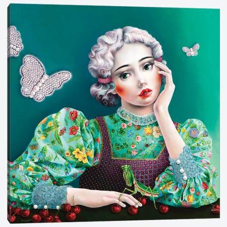 Ophelia In Gucci Canvas Print #LPF44} by Liva Pakalne Fanelli Canvas Art