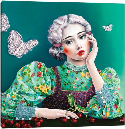 Ophelia In Gucci Canvas Art Print