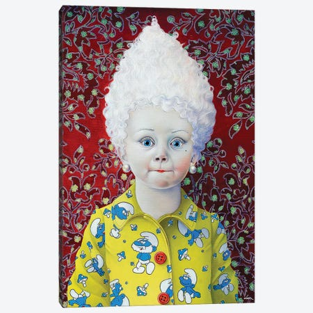 Smurf Girl Canvas Print #LPF49} by Liva Pakalne Fanelli Canvas Art Print