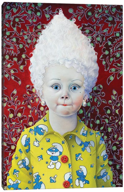 Smurf Girl Canvas Art Print
