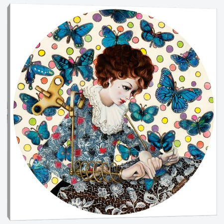 Song Of Butterfly Canvas Print #LPF50} by Liva Pakalne Fanelli Canvas Artwork