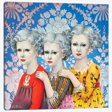 Three Sisters Canvas Print #LPF54} by Liva Pakalne Fanelli Art Print