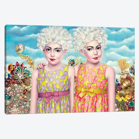 Twins Canvas Print #LPF55} by Liva Pakalne Fanelli Art Print
