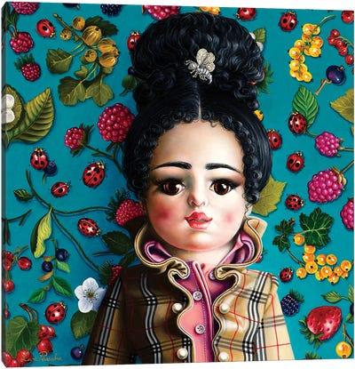 Bambolin Burberry Canvas Art Print