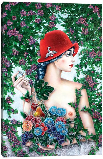Girl With A Red Hat Canvas Art Print