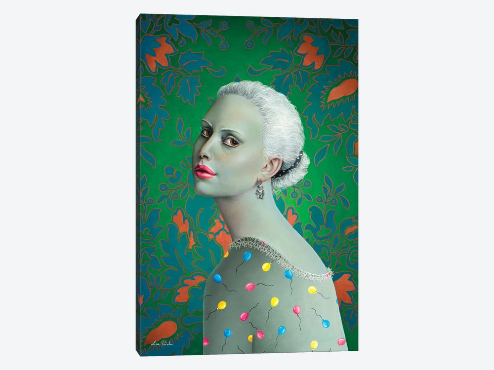 Girl With Balloons Dress by Liva Pakalne Fanelli 1-piece Canvas Print