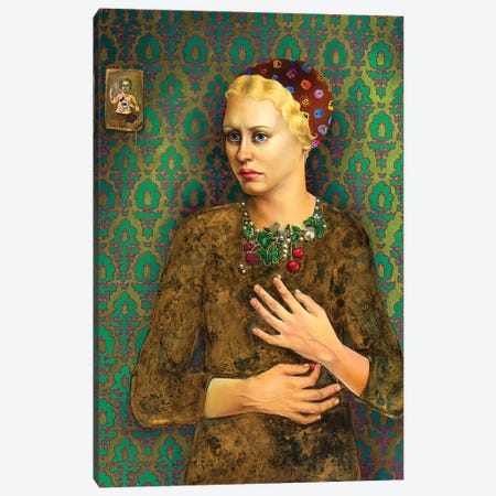 Girl With Baroque Necklace Canvas Print #LPF64} by Liva Pakalne Fanelli Canvas Art