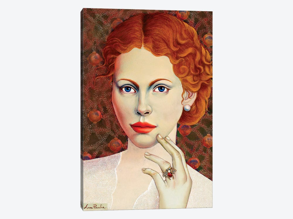 Girl With Bee Ring by Liva Pakalne Fanelli 1-piece Canvas Print