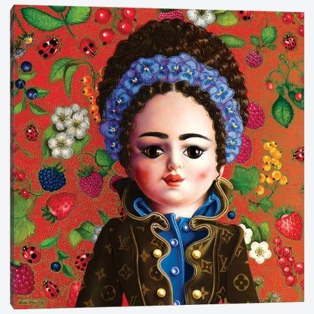 Bambolina Vuitton Canvas Print #LPF6} by Liva Pakalne Fanelli Canvas Art