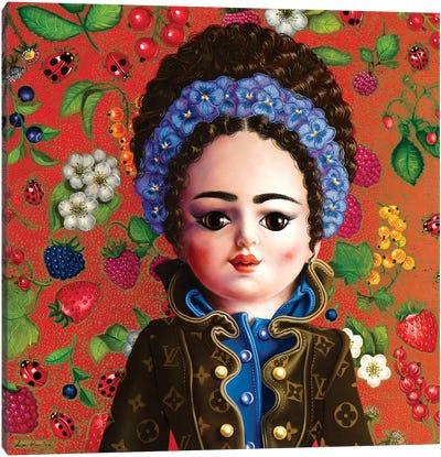 Bambolina Vuitton Canvas Art Print