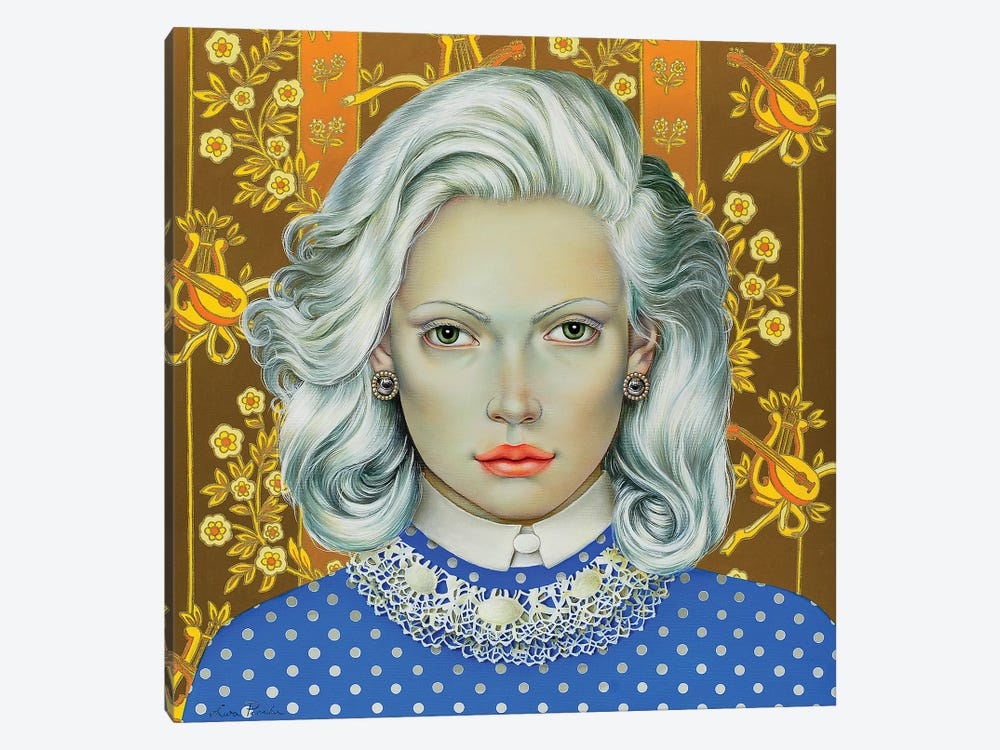 Girl With White Hair by Liva Pakalne Fanelli 1-piece Canvas Wall Art