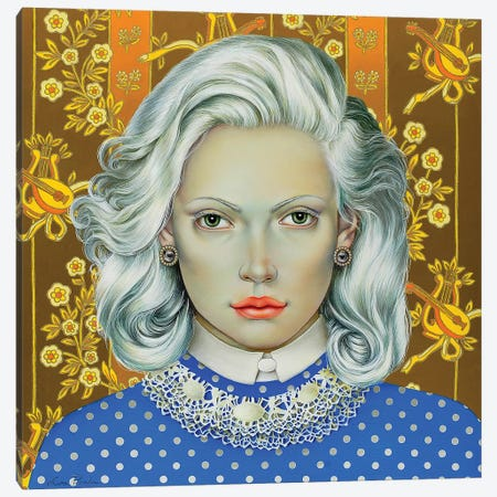 Girl With White Hair Canvas Print #LPF71} by Liva Pakalne Fanelli Canvas Artwork