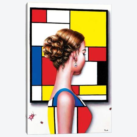 Mondrian's Art Lover I Canvas Print #LPF74} by Liva Pakalne Fanelli Art Print