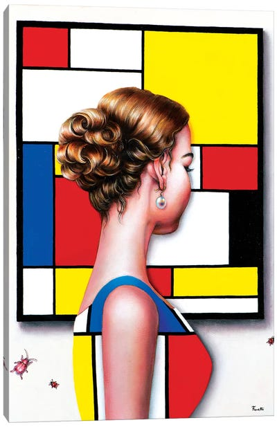 Mondrian's Art Lover I Canvas Art Print