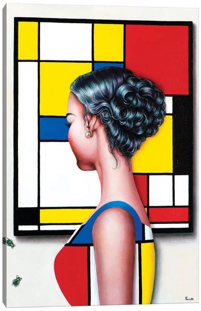 Mondrian's Art Lover II Canvas Art Print