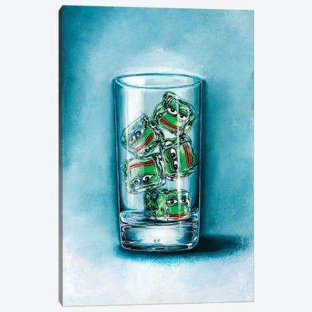 Pepe Frog Ice 3-Piece Canvas #LPF76} by Liva Pakalne Fanelli Canvas Print