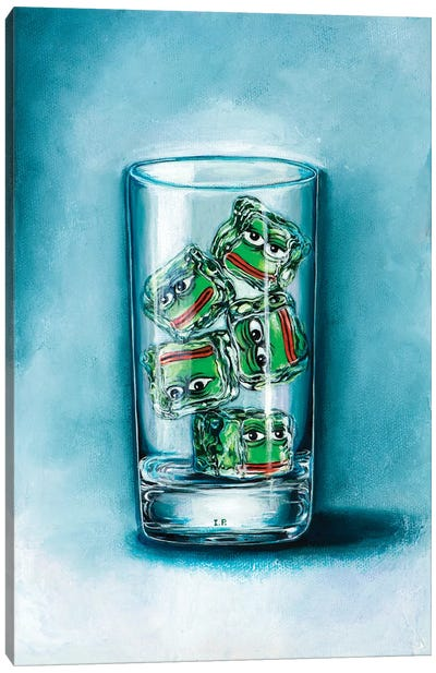 Pepe Frog Ice Canvas Art Print