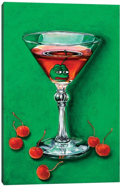 Pepe Frog Manhattan Canvas Art Print