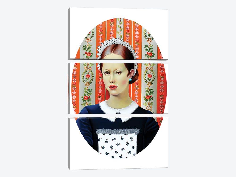 Pretty Waitress by Liva Pakalne Fanelli 3-piece Canvas Art Print